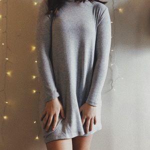 Sweater T-shirt dress